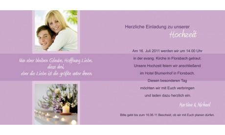 """Einladungskarte Hochzeit """"Eleganz"""", Klappkarte Quadrat, grün"""