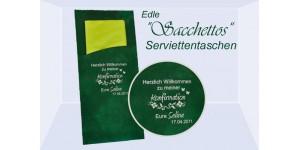 """Edle Serviettentaschen """"Sacchettos"""" mit individuellem Aufdruck"""