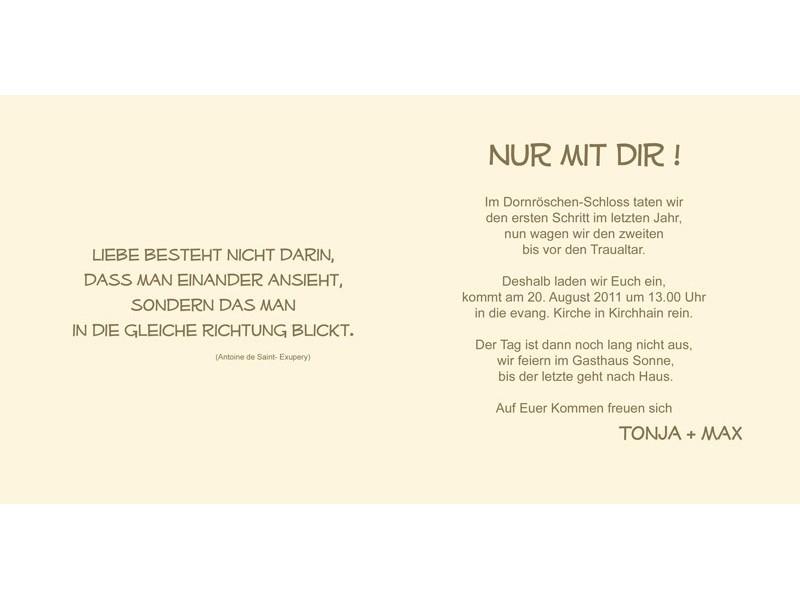 hochzeitskarten texte einladung ~ alle guten ideen über die ehe, Einladung