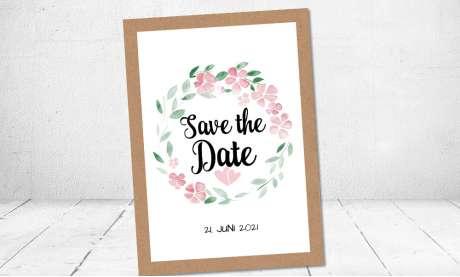 Hochzeitseinladung aquarell Blumen