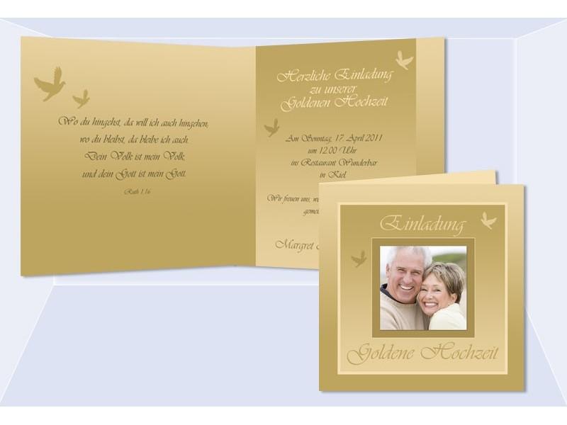 hochzeitskarte hochzeitseinladung einladung goldene. Black Bedroom Furniture Sets. Home Design Ideas