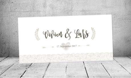 Einladung Hochzeit Vintage Spitze