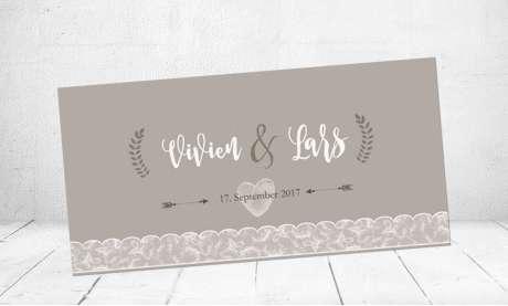 Einladungskarten Hochzeit mit Spitze Vintage