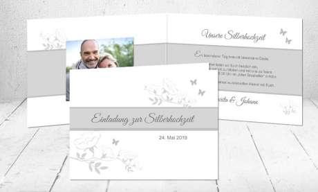 Einladungskarten Goldene Hochzeit mit Foto