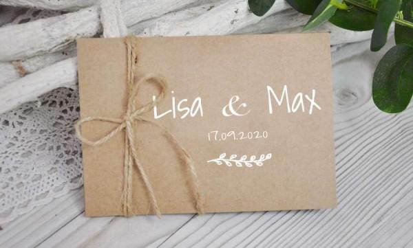 Hochzeitseinladung individuell gestalten