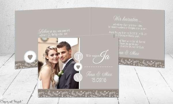 Hochzeitseinladungen gestalten mit Foto