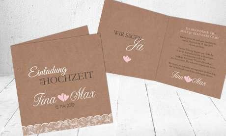 Einladung Hochzeit Spitze