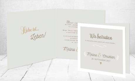 Einladungskarten Hochzeit Klappkarten