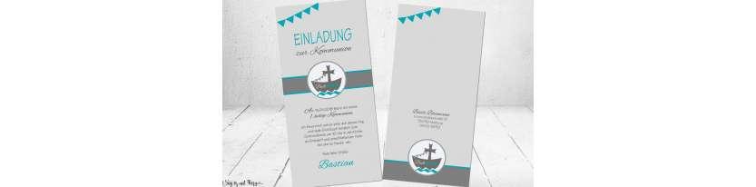 Einladungskarten Kommunion Schiff