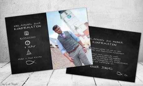 Einladungskarten Konfirmation Foto