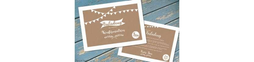 Einladungskarten Konfirmation Postkarte