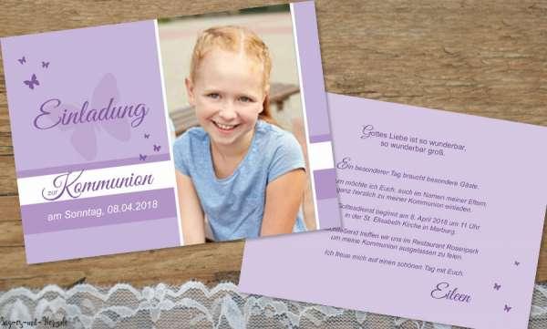 Einladungskarten Kommunion Mädchen