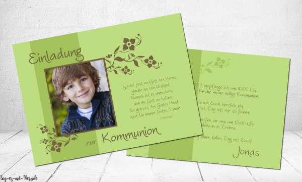 Einladungskarten Kommunion mit Bild