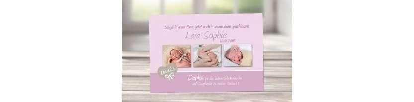 Dankeskarten Geburt Collage