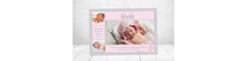 Danksagung Geburt Postkarte