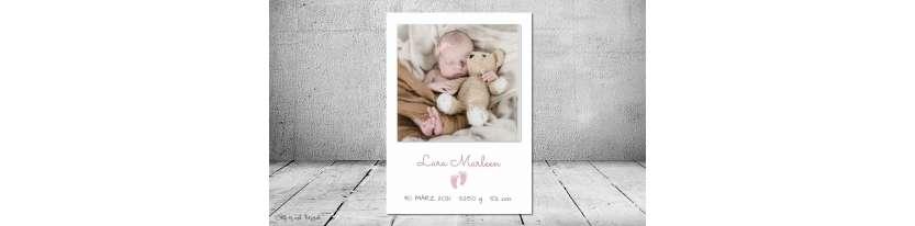 Danksagung Geburt Polaroid