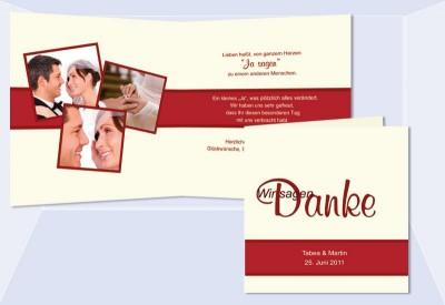 Hochzeit Danksagungsagungskarten Karten Danksagung