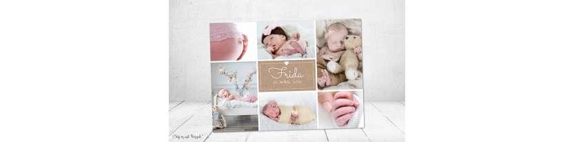 Dankeskarten Geburt Kraftpapier Baby