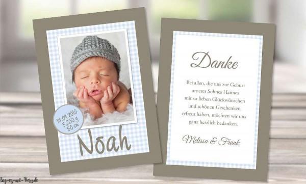 Dankeskarten Geburt Postkarte