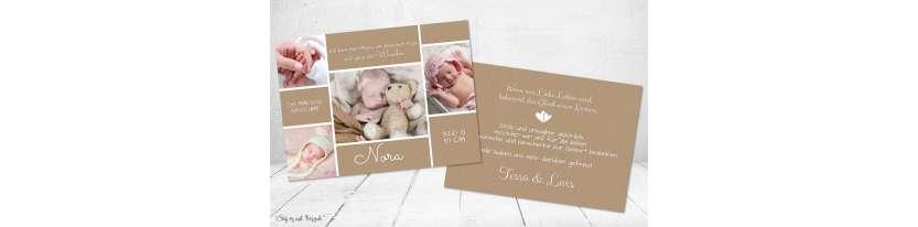 Danksagung Geburt Kraftpapier