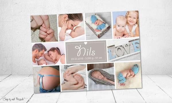 Danksagung Geburt individuell