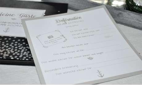 Eintragkarten Gästebuch Hochzeit Hochzeitsalbum