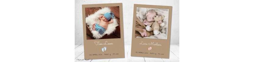 Dankeskarten Geburt Vintage Kraftpapier Babyfüßchen
