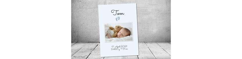 Vintage Dankeskarten Baby Geburt Junge