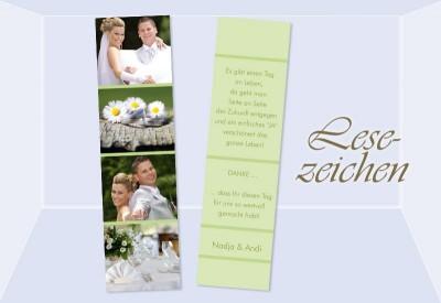 Danksagungskarte Hochzeit Lesezeichen