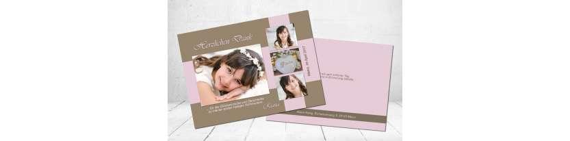 Danksagungskarte Kommunion Postkarte