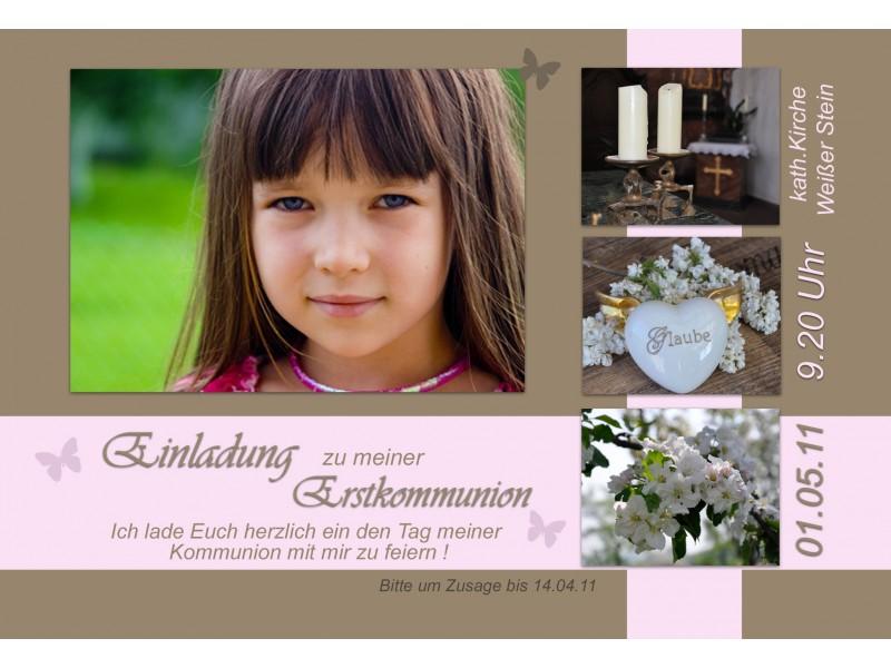 einladung kommunion / konfirmation, einladungskarte, fotokarte, Einladung