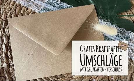 Briefumschläge Kraftpapier quadratisch 15 x 15 cm Grußkarten Verschluss