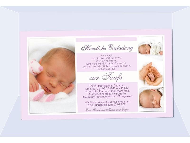 Einladung Taufe, Taufeinladung, Fotokarte, Einladungskarten, beige