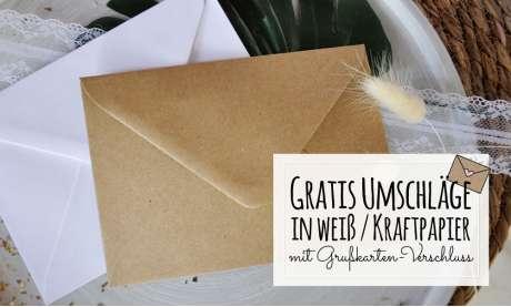 Einladungskarten Geburtstag Vintage Kraftpapier Briefumschläge
