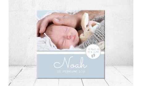 Geschenk Geburt personalisiert Baby Wandbild Geburtsdaten Leinwand Junge Mädchen Kinderzimmer