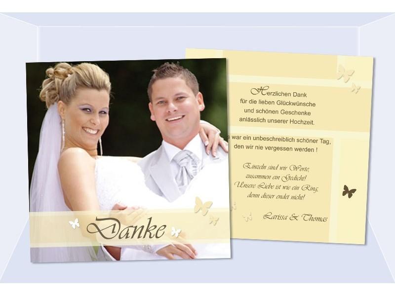 Danksagungskarten Hochzeit, Karten, Danksagung