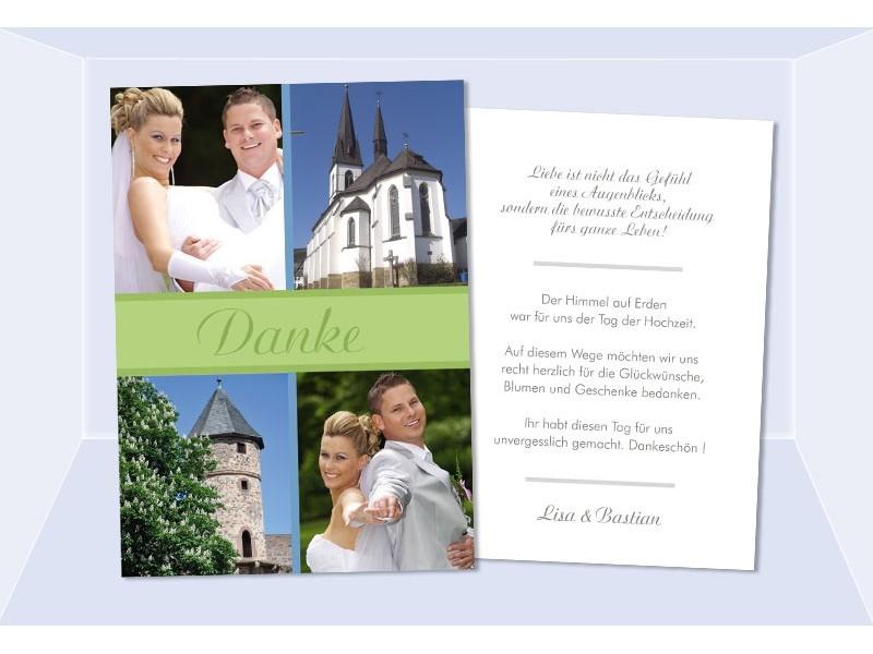 Danksagungskarten Hochzeit, Karten, Danksagung, Postkarte
