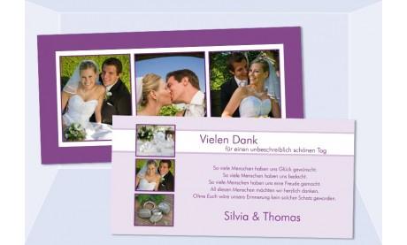 Danksagungskarte Karte Hochzeit, beere