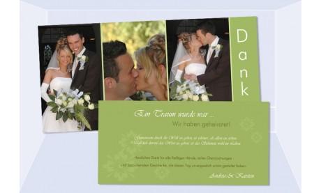 Danksagungskarte Karte Hochzeit, grün