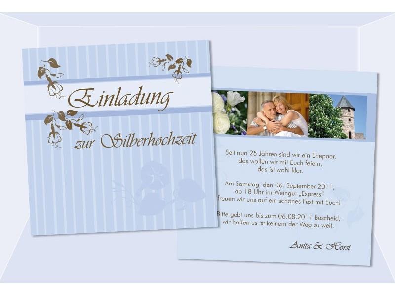 Karten Goldene Hochzeit Silberhochzeit, Einladungskarten, Hochzeitseinladungen
