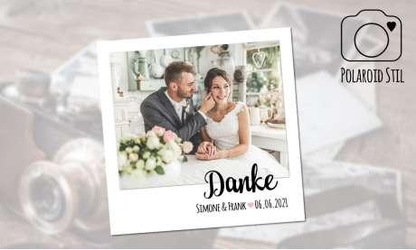 Dankeskarte Hochzeit Polaroid