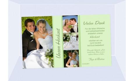 Danksagungskarte, Karte Hochzeit, Fotokarte, flieder