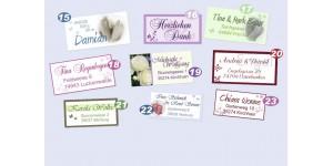 Persönliche Absenderaufkleber mit Foto, im Stil Ihrer Karten