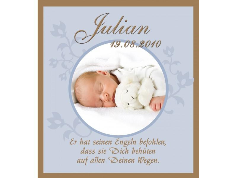 Taufkerze für Ihr Baby mit Foto und Taufspruch ...