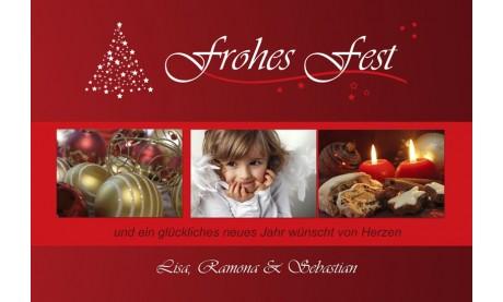 Fotokarte Weihnachten, Weihnachtskarte Weihnachtszauber
