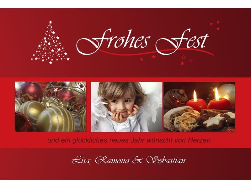 fotokarte weihnachten weihnachtskarte 10x15 cm rot. Black Bedroom Furniture Sets. Home Design Ideas