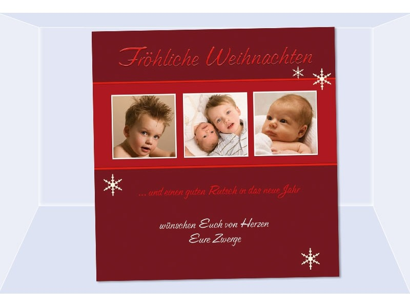 fotokarte weihnachten weihnachtskarte 10x10 cm rot. Black Bedroom Furniture Sets. Home Design Ideas