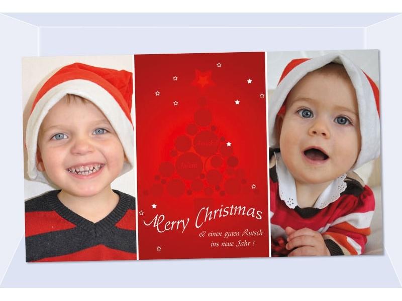 fotokarte weihnachten weihnachtskarte 10x18 cm rot. Black Bedroom Furniture Sets. Home Design Ideas