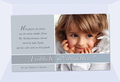 fotokarte weihnachten weihnachtskarte 10x18 cm grau. Black Bedroom Furniture Sets. Home Design Ideas