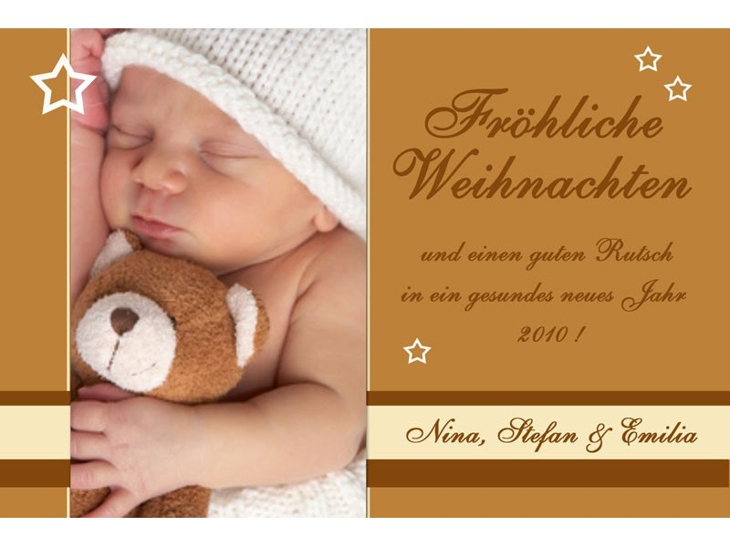 fotokarte weihnachten weihnachtskarte 10x15 cm rostbraun. Black Bedroom Furniture Sets. Home Design Ideas